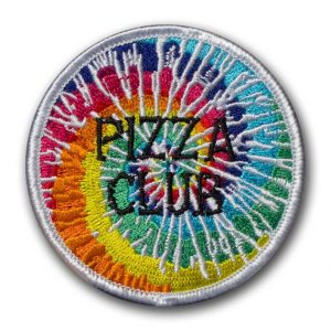 Custom Embroidered Patch made for non profit organization Pizza Club