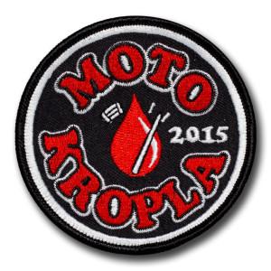 Naszywka Haftowane Komputerowo Moto Kropla 2015